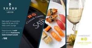 Aperitivo con degustazione sushi e franciacorta saten